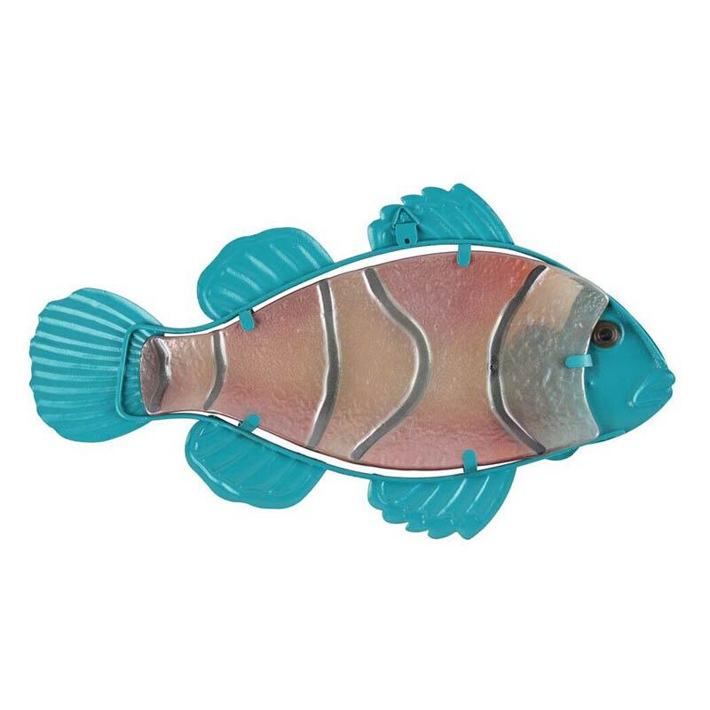Металл стекло рыба стена произведения искусства для дома и сада украшения животных для сада статуи и скульптуры миниатюры