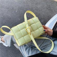 2020 novo tecer sacos de aleta para as mulheres outono tendência designer marca moda couro pu senhoras tecer tote ombro mensageiro saco