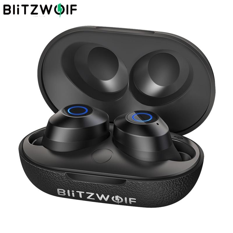 BlitzWolf FYE5 5.0 TWS Verdadeiro HiFi Mini Fones de Ouvido Fone de ouvido Estéreo Esportes Sem Fio À Prova D' Água 10M Obstáculo-Ligação gratuita