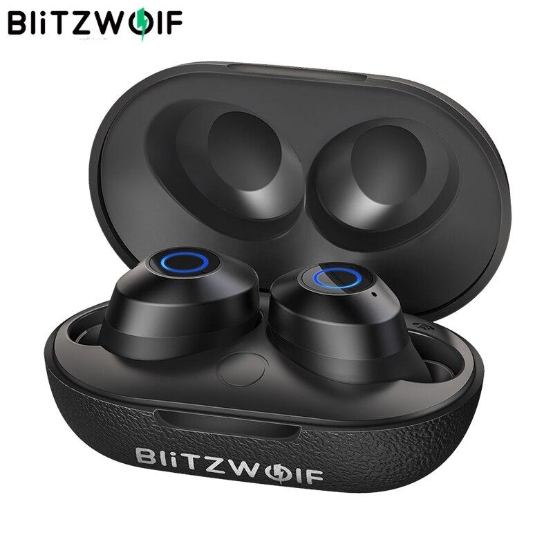 BlitzWolf FYE5 bluetooth v5.0 TWS True écouteurs intra auriculaires sans fil sport stéréo étanche HiFi Mini écouteurs 10M connexion sans Obstacle casque écouteurs mains libres écouteurs basse musique-in Écouteurs et casques from Electronique    1