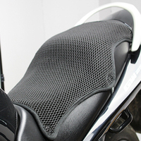 Motorcycle Seat Cover Sunscreen Pad 3D Mesh Fabric Protective Universal Double Layer Durable Breathable Cushion Heat Insulation