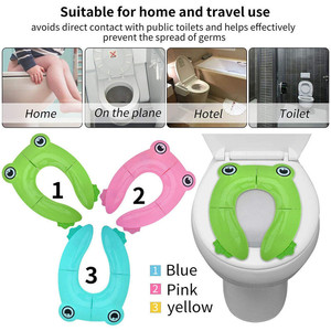 Portable Kids Travel Potty Seat Pad Baby Folding Toilet Training Seat Cover Toddler Urine Assistant Cushion Children Pot Seater