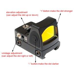 Image 4 - Mini RMR منظر نقطة حمراء نطاق جهاز الرؤية العاكس نطاق مع غلوك العالمي جبل Airsoft بندقية الصيد البصر البصري