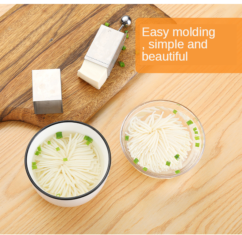 Tofu Mum Cutter Stainless Steel Slicer - Make beautiful tofu chrysanthemum for an elegant flourish in your soup