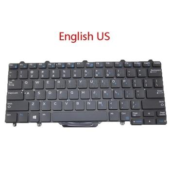 Na laptopa z podświetleniem nam BR klawiatura do DELL Latitude 7350 E5250 E5270 E7250 E7270 E7450 E7470 3160 3150 brazylia w języku angielskim nowy
