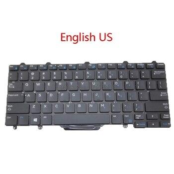 バックライトキーボード米国 br dell の緯度 7350 E5250 E5270 E7250 E7270 E7450 E7470 3160 3150 ブラジル英語新しい