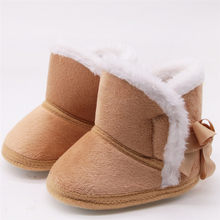 Infant Boots Winter Baby Boys Girls Shoes Anti-Slip Toddler Snow Warm Prewalker Round Toe Non-slip Comfortable 2019 Baby Shoe 70(China)