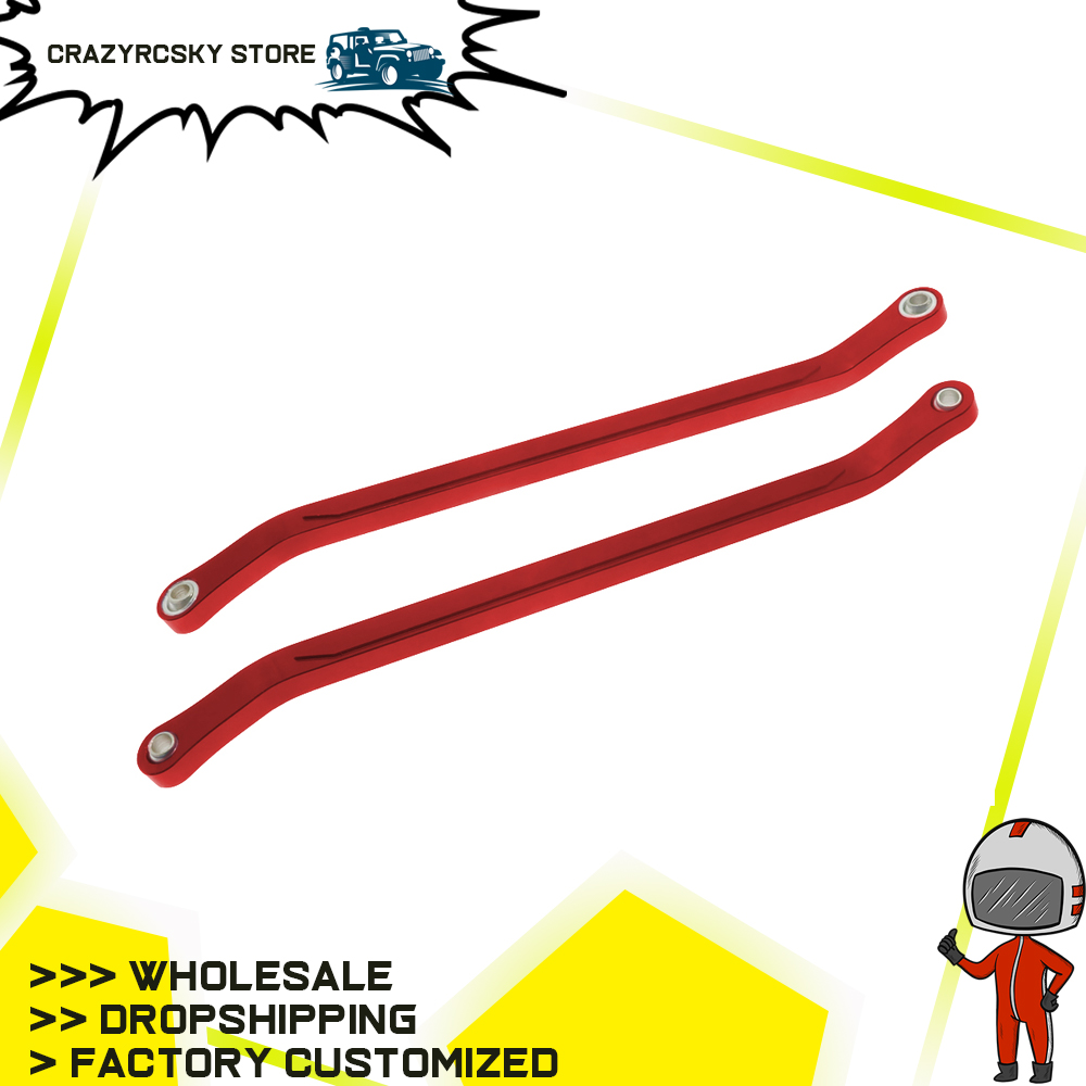 2pcs Machined Alloy Rear Axle To Chassis Links For Rc Hobby Model Car 1-10 Vrx Octane Vetta Karoo Ftx Outlaw Upgraded Hop-Up