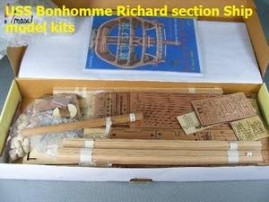 Image 3 - בקנה מידה 1/48 USS Bonhomme ריצ רד סעיף ספינה דגם ערכות + יוקרה פנימי מבנה קישוט דגם ערכות + עץ חביות