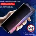 Imak Антибликовая мягкая Гидрогелевая пленка для samsung Galaxy S10 Plus  поддержка ультразвукового распознавания отпечатков пальцев  полное покрытие ...