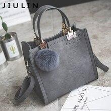 Handbag women shoulder bag luxury handbags women bags designer High grade Scrub PU  leather messenger bag Hairball women bag