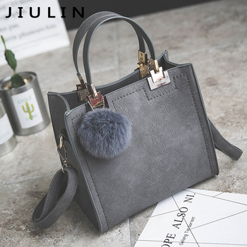 Handbag women shoulder bag luxury handbags bags designer High-grade Scrub PU  leather messenger Hairball