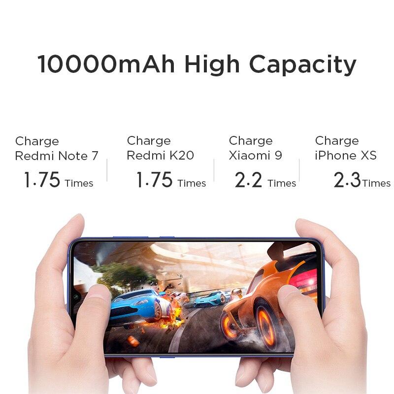 Портативное зарядное устройство Xiaomi Redmi, 20000 мАч, USB Type C, Mi Power bank 10000, быстрая зарядка, внешний аккумулятор