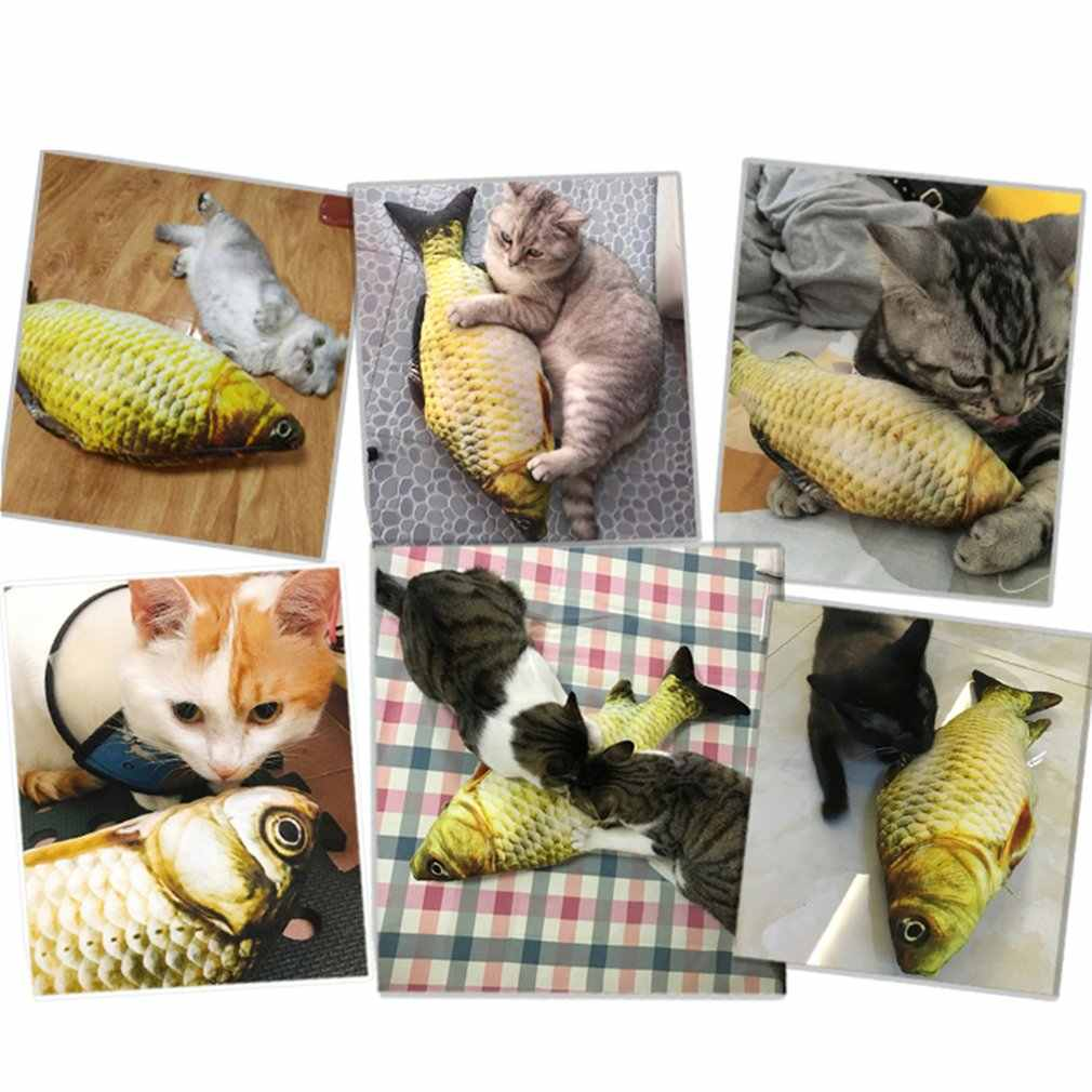 20cm Catnip Catmint Cat Favor Simulation Fish Cat Toys Fish Shape Scratching Post Short Plush For Pet Product Supplies
