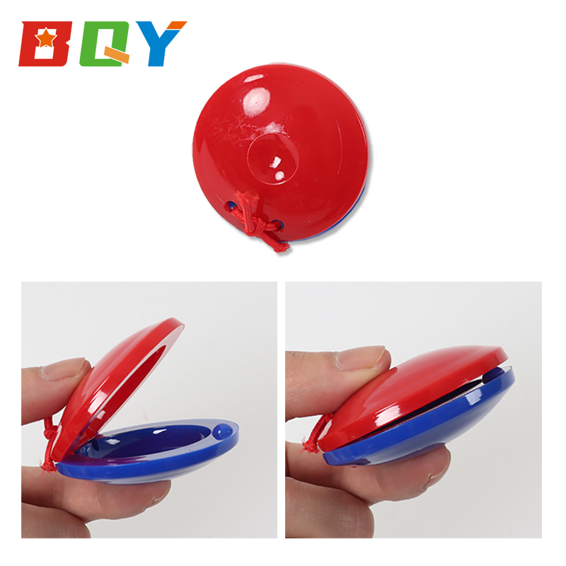 BQY Kids Wooden Finger Castanets Percussion Musical Instruments Rhythm for Toddlers Preschool& Educational Toy