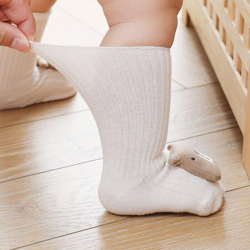 Autumn Winter Soft Cotton Baby Girls Socks Newborn Cartoon Animal Baby Socks Infant Baby Boy Socks Anti Slip Floor Sock Spring 2