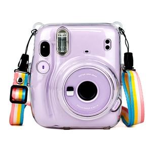 Прозрачный чехол для камеры Instax Mini 11, портативный пылезащитный легкий чехол с ремешком, защита от ударов, для Fuji|Сумки для фото-/видеокамеры|   | АлиЭкспресс