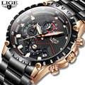 LIGE Neue Uhr Männer Top Marke Luxus Herren Uhren Sport Voller Edelstahl Wasserdicht Business Quarzuhr Relogio Masculino