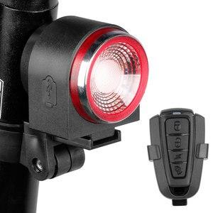 Задний фонарь для велосипеда, задний фонарь, тормозной светильник сигнализация от взлома, дистанционное Беспроводное управление, USB зарядк...
