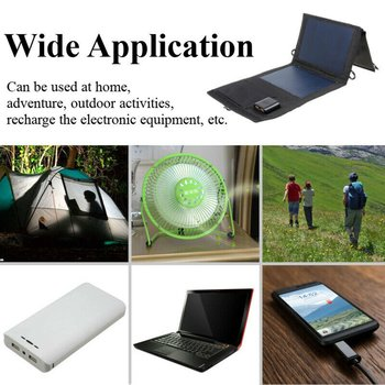 20W Dual USB Solar Panel Foldable Power Bank Panel Camping Hiking Phone Charger Charger Panel Power Pack 5