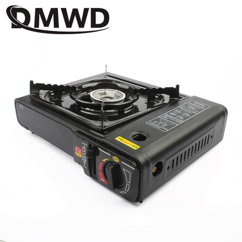 DMWD Outdoor Cassette Barbecue Grill Camping Picnic Gas Heating Stove Oven Furnace BBQ Burner For Non-Stick Roasting Plate Pan