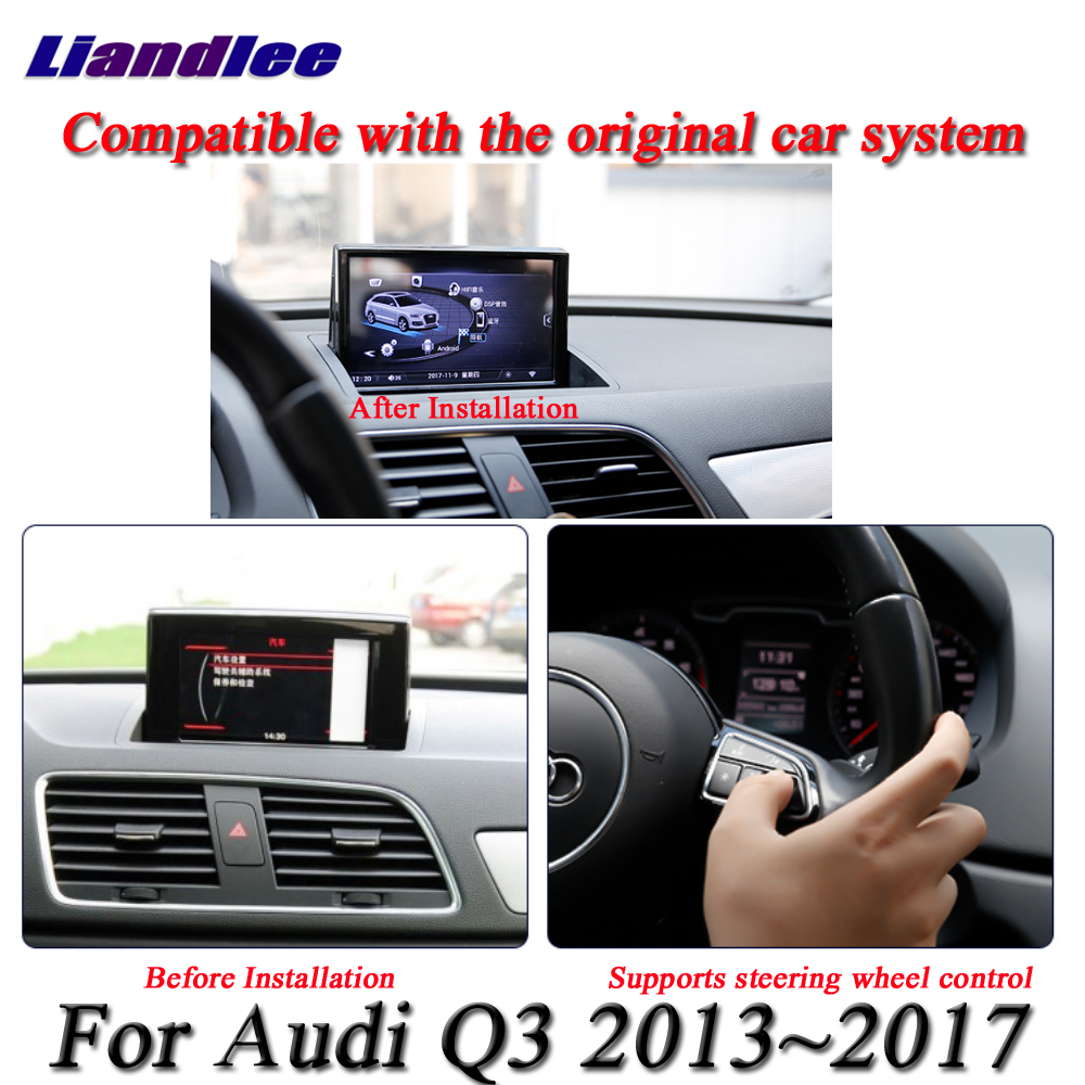 Image 4 - For Audi RS Q3 2013 2014 2015 2016 2017 Car Android Multimedia Player HD Touch Screen Radio AM FM RDS GPS Navigation SystemCar Multimedia Player   -