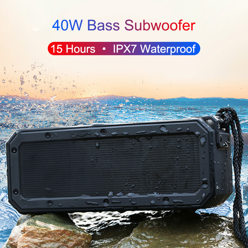 2020 40W Bluetooth haut-parleur Portable sans fil colonne barre de son TWS 5.0 IPX7 étanche musique Boom boîte basse Subwoofer jouer 15 heures