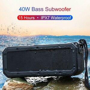 40W Portable Bluetooth Speaker Wireless Column Soundbar for Computer Super Bass Stereo Type-C AUX Waterproof Boom Box 15 Hours