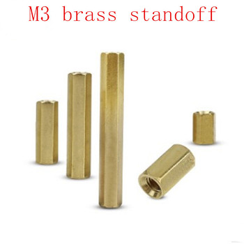 20pcs M3*4/5/6/7/8/9/10/11/12/13/14/15/16/18/20/22/25/30/35/40/45/50/55/60 female to female brass hex standoff spacer image