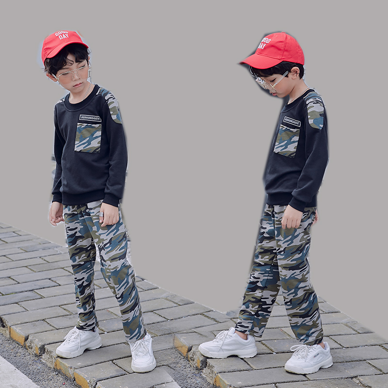 IENENS 2PC ילדים בייבי בני צבאי בגדי בגדי צעירה ילד חולצות + מכנסיים תלבושות חליפות ילדי הסוואה אימוניות