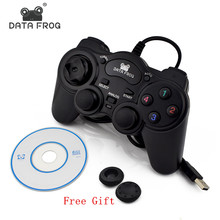 HOT Wired USB 2.0 Black Gamepad Joystick Joypad Gamepad Game Controller For PC Laptop Computer For Win7/8/10 XP/For Vista wired gamepad usb game controller gaming joypad joystick control for pc computer laptop gamer black game console