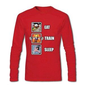 Image 4 - Лидер продаж, программист, Dragon Ball Eat Train Sleep Goku Repeat, 3d футболка с длинным рукавом и круглым вырезом, забавные зимние футболки для взрослых, футболка