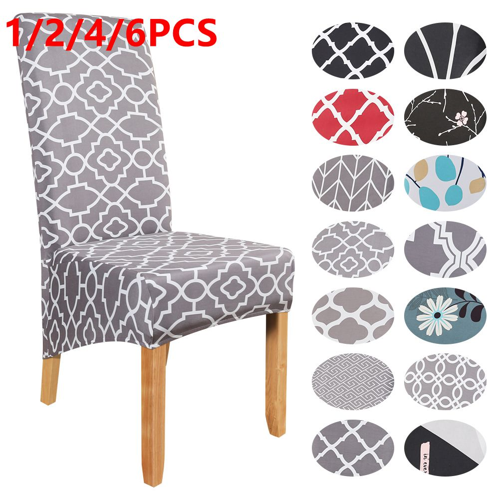 Dining Chair Cover Large Polyester Chair Cover Spandex XL Hight Back Seat Chair Covers Dining Room Banquet 2/4/6pcs