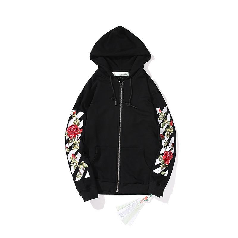 Цветочный кардиган на молнии с машинной вышивкой, худи для подростков в европейском и американском стиле, популярный модный бренд, лидер пр...
