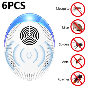 Ultrasonic Pest Repeller Insect Killer Rodent Control Indoor Cockroach Mosquito Electronic Mosquito Outdoor Insect Repellent фото