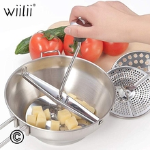 Wiilii Stainless Steel Potato Masher Good Grips Food Mill Cookware For Mashing Straining Grating Fruits Vegetables Mashed Potato