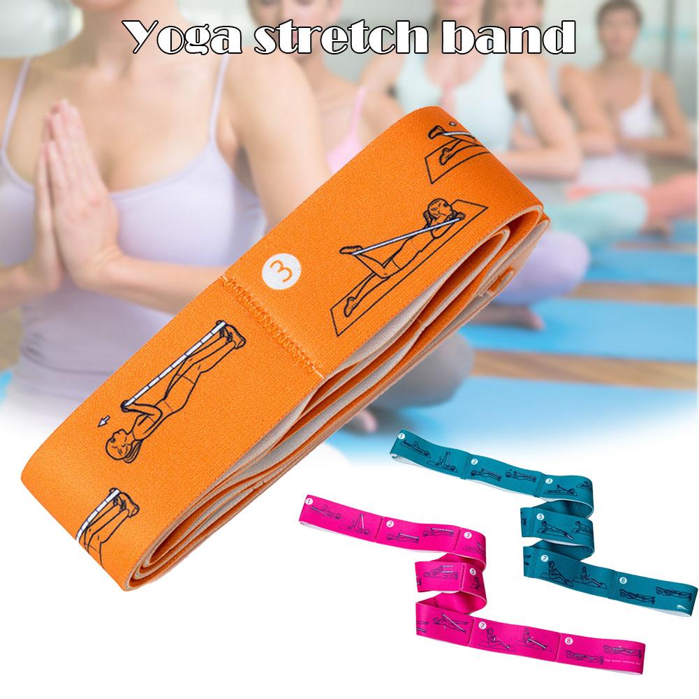 2019 Newly Sport Yoga Stretch Strap Resistance Elastic Belt For Waist Leg Fitness Training G66