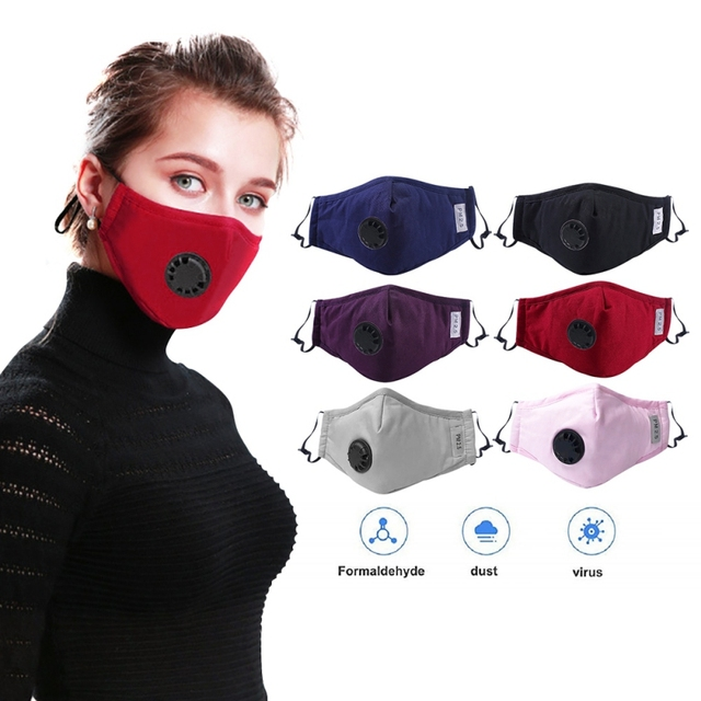 New Filter Black mouth Mask anti dust mask Activated carbon filter Windproof Mouth-muffle bacteria proof Flu Face masks Care 2