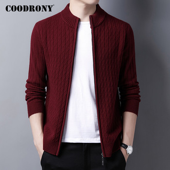 COODRONY Brand Sweater Men High Quality 100% Merino Wool Cardigan Men Clothing 2020 Autumn Winter Thick Warm Sweatercoat C3011 coodrony brand sweater men zipper turtleneck cardigan men clothing autumn winter thick warm 100% merino wool sweater coat p3026