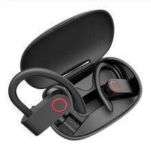 Yeni TWS Bluetooth kulaklık gerçek kablosuz kulaklık 8 saat müzik bluetooth 5.0 kablosuz kulaklık su geçirmez spor kulaklık