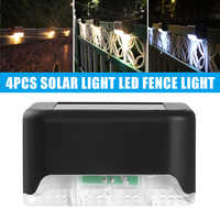 Pack of 4 Solar Power LED Fence Light Rock Lamp Waterproof Outdoor Garden Stake Lamp Decor J99Store