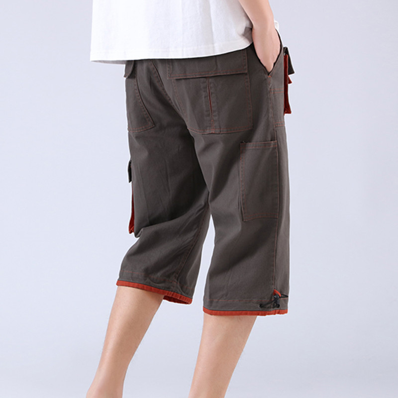 New Style Summer Capri Pants Men's Straight-Cut Loose-Fit Casual Large Size Workwear Shorts Outdoor Sports Beach Shorts Horse Pa