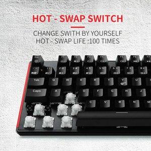 Image 3 - HEXGEARS GK707 87 Key Gamer Mechanical Keyboard Kailh BOX Switch Hot Swap Anti Ghosting White LOL Gaming Keyboard For PC/Mac/Lap