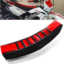 Ribbed Gripper Soft Seat Cover For Honda CR 125R 250R CRF250R CRF250X CRF450R CRF450X CRF450RX CRF250L CRF 250 RALLY 450R XR 400(China)
