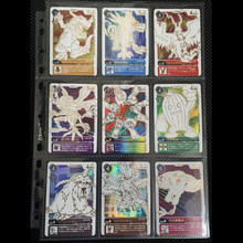 9PCS DIGIMON Silver Stamping Process Cards Digital Monster Greymon Game Collection Cards Christmas Gift Toys(China)