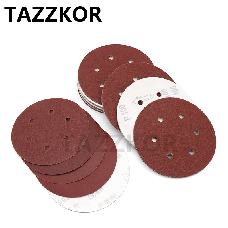 Abrasive Self Adhesive Sanding Disc Grit P40-800 Polishing Sandpaper For Metal Wood Sander Power Tools Accessor 6Inch 10pcs