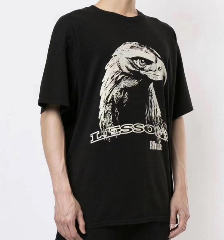 2020 Summer Style RHUDE Eagle Printed T Shirt Men Women Oversized HipHop 100% Cotton Tees Rhude Collaboration T-Shirt Men