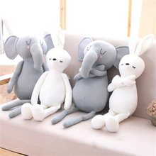 50cm Infant Plush Elephant rabbit Soft Appease Playmate Calm Doll Pillow stuffed kids toys Christmas birthday gifts(China)