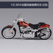 Maisto 1:12 هارلي ديفيدسون 2014 cvo اندلاع دراجة نارية نموذج معدني لعب للأطفال هدية عيد ميلاد اللعب مجموعة