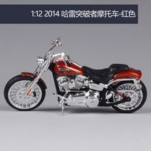 Maisto 1:12 Harley Davidson 2014 cvo пробойник мотоцикл металлическая модель игрушки для детей подарок на день рождения Коллекция игрушек